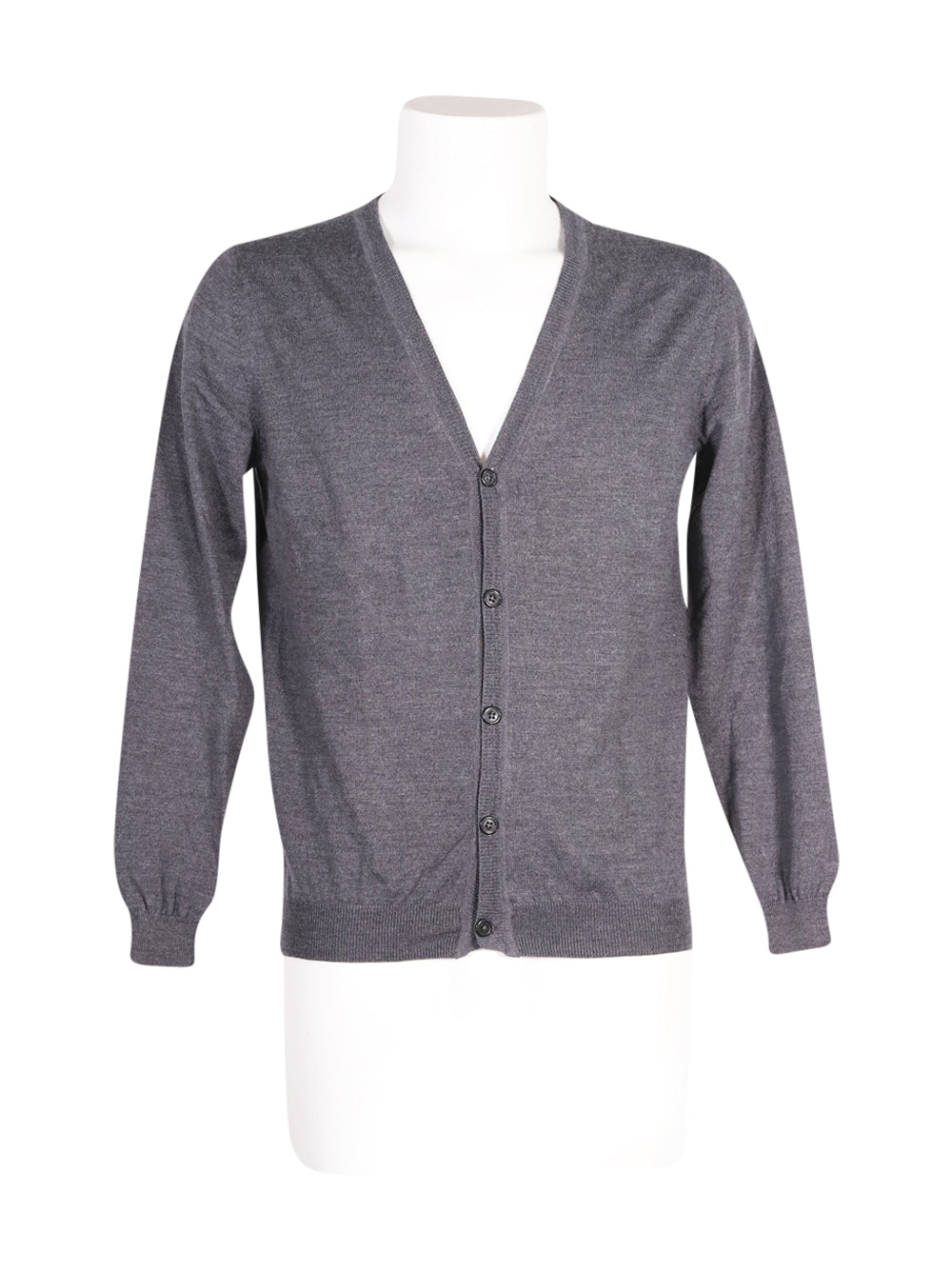 Front photo of Preloved Massimo Rebecchi Grey Man's cardigan - size 40/L