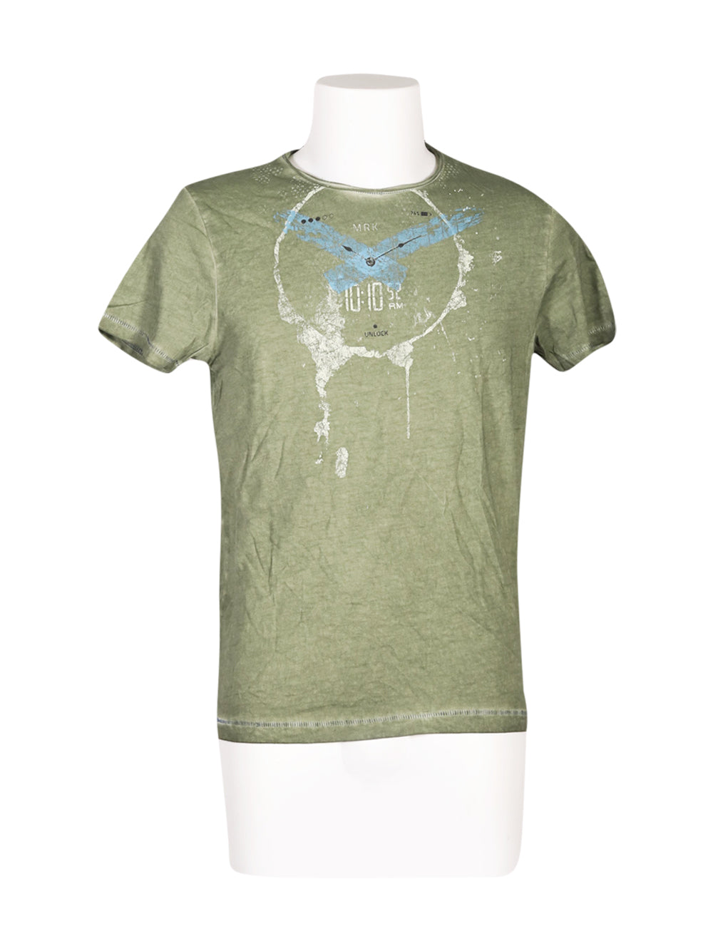 Front photo of Unworn markup Green Man's t-shirt - size 38/M