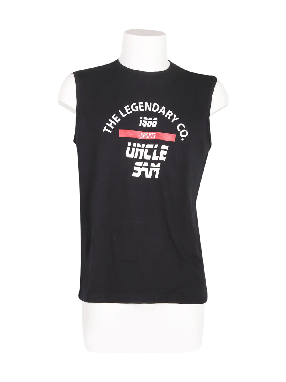 Front photo of Unworn uncle sam Black Man's sleeveless top - size 38/M