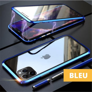 Coque Magnetique Iphone Bleu