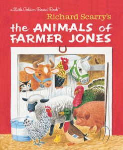 The Animals of Farmer Jones by Richard Scarry - boardbk