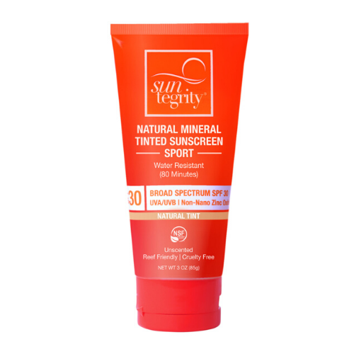 Suntegrity Sport Natural Mineral Sunscreen - Tinted