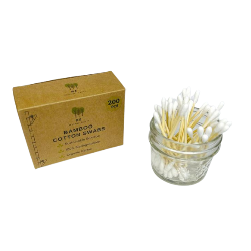 Me Mother Earth Bamboo Cotton Swabs