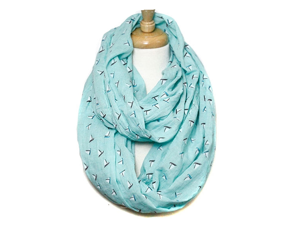 Sailboat print infinity scarf