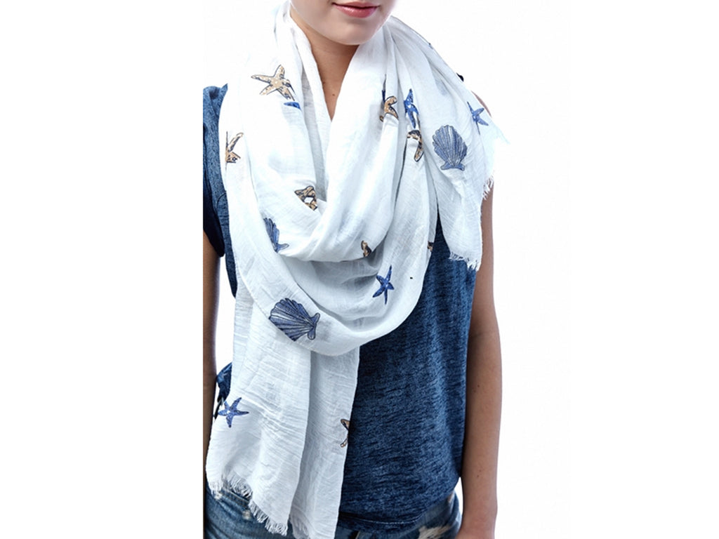 Shell print scarf