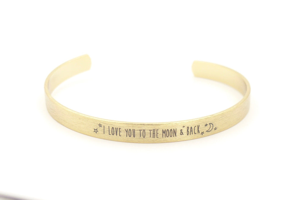 I love to the moon and back bracelet