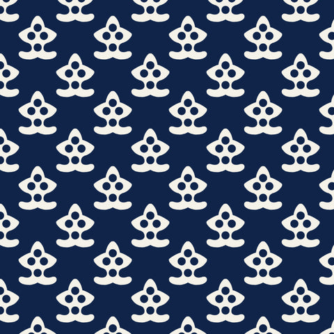 Navy Blue White Nautical Anchor Peel and Stick Removable Wallpaper Pattern