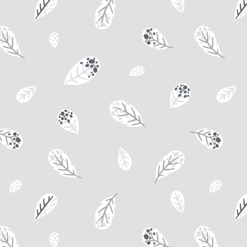 Gray and White Feather Removable Peel and Stick Wallpaper