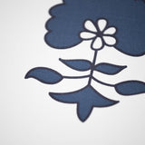 Navy Light Blue Block Flower Peel and Stick Removable Wallpaper Sample Size