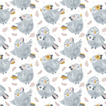 Blue Boho Birdy Removable Peel and Stick Wallpaper