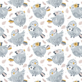 Boho Birdy Colorful Child Room Removable Peel and Stick Wallpaper Pattern