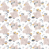 Pink Cute Boho Birdy Removable Peel and Stick Wallpaper