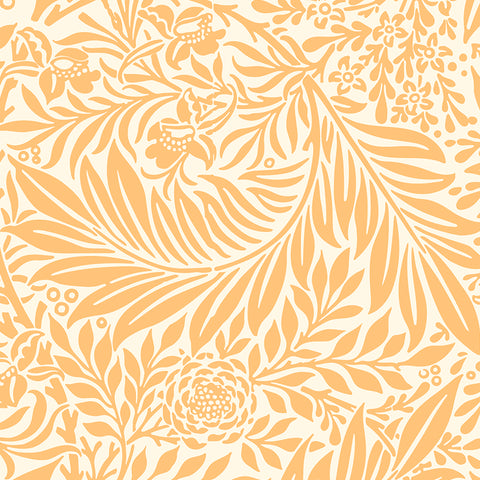 Yellow Orange elegant wallpaper living room peel and stick removable pattern