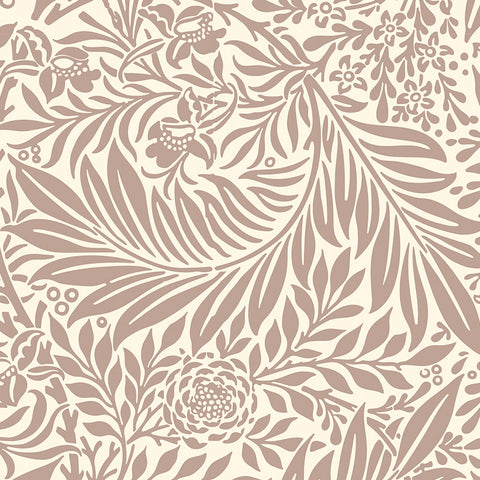 Brown elegant leaves wallpaper peel and stick removable pattern