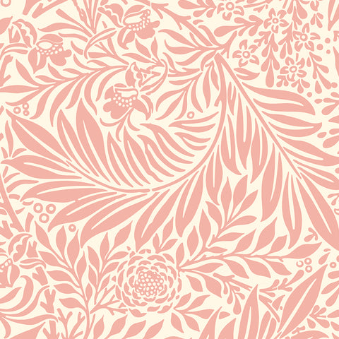 Pink Leaves Branches elegant wallpaper peel and stick removable pattern
