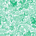 White background bright green flowers and Leaves elegant wallpaper peel and stick removable pattern