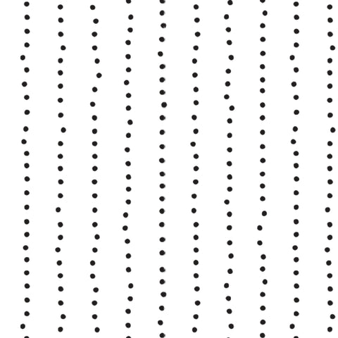black colored dot stripe pattern on white background Removable Peel and Stick Wallpaper pattern