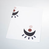 cute colored eye concept design on white background Removable Peel and Stick Wallpaper sample size