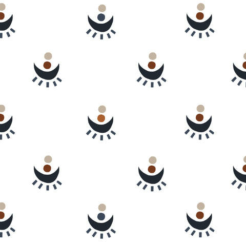 cute colored eye concept design on white background Removable Peel and Stick Wallpaper pattern