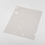 cartoon style white stars on tan background Removable Peel and Stick Wallpaper sample size