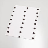 black colored dot stripe pattern on white background Removable Peel and Stick Wallpaper sample size