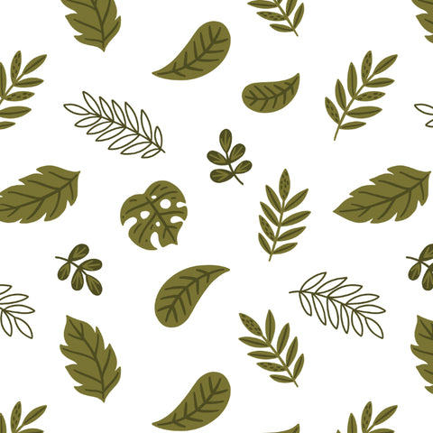 dark green leaves design pattern on white background wallpaper peel and stick