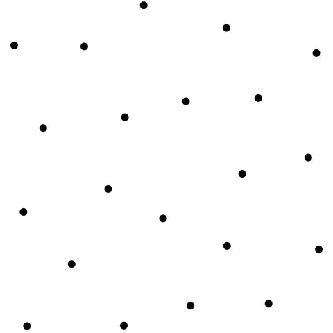 Polka Dot Removable Decals Black