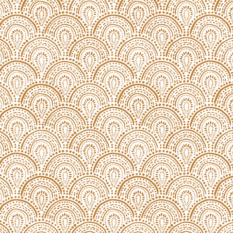 brown tan elegant shapes and lines design pattern on white background Removable Peel and Stick Wallpaper