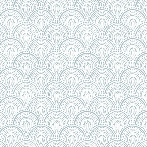 light blue elegant shapes and lines design pattern on white background Removable Peel and Stick Wallpaper
