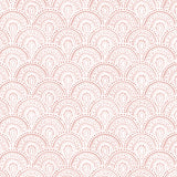 rose pink elegant shapes and lines design pattern on white background Removable Peel and Stick Wallpaper