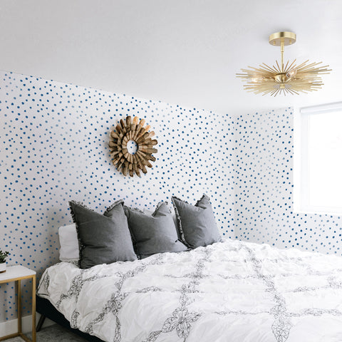 Blue Spots Removable Peel and Stick Wallpaper