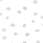mint and grey colored spots design pattern on white background Removable Peel and Stick Wallpaper