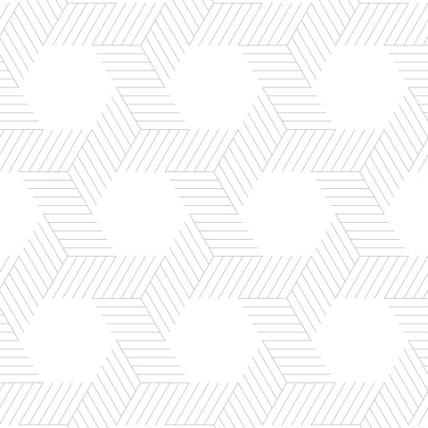 light grey geometric lines and shapes white background Removable Peel and Stick Wallpaper
