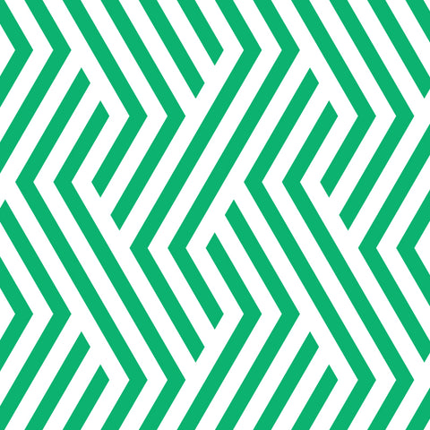 bright green geometric line design pattern on white background Removable Peel and Stick Wallpaper