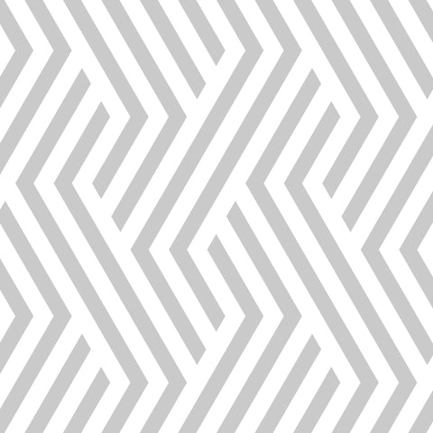 smoke grey geometric line design pattern on white background Removable Peel and Stick Wallpaper