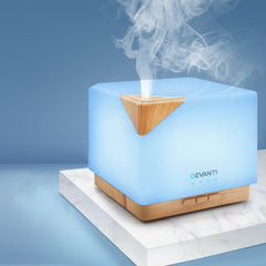 DEVANTi Aroma Diffuser Air Humidifier Night Light 600ml