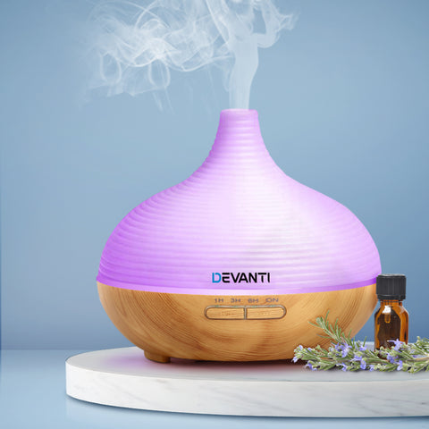 DEVANTi Aroma Diffuser Air Humidifier Night Light 300ml