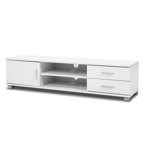 Artiss 120cm TV Stand Entertainment Unit Storage Cabinet Drawers Shelf White