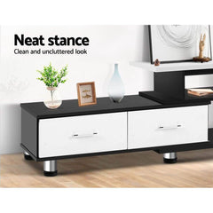 Artiss Wooden TV Stand Entertainment Unit 160CM To 220CM Lowline Storage Drawers Black White
