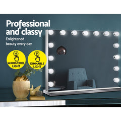 Embellir Hollywood Frameless Makeup Mirror With 15 LED Lighted Vanity Beauty 58cm x 46cm