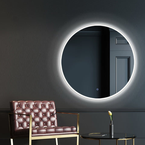 Embellir LED Wall Mirror Bathroom Mirrors With Light Decorative 50CM Round