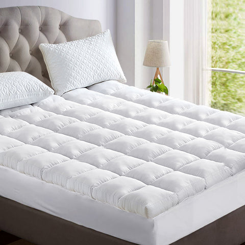 Giselle King Mattress Topper Bamboo Fibre Pillowtop Protector