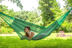 King Size Cotton Hammock in Jardin