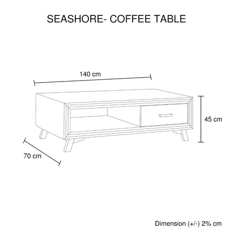 Seashore Coffee Table 2 Drawers