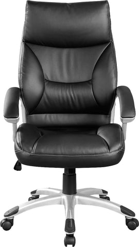 PU Leather Office Chair Executive Padded Black