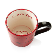 Load image into Gallery viewer, I Love You Engraved Heart Mug