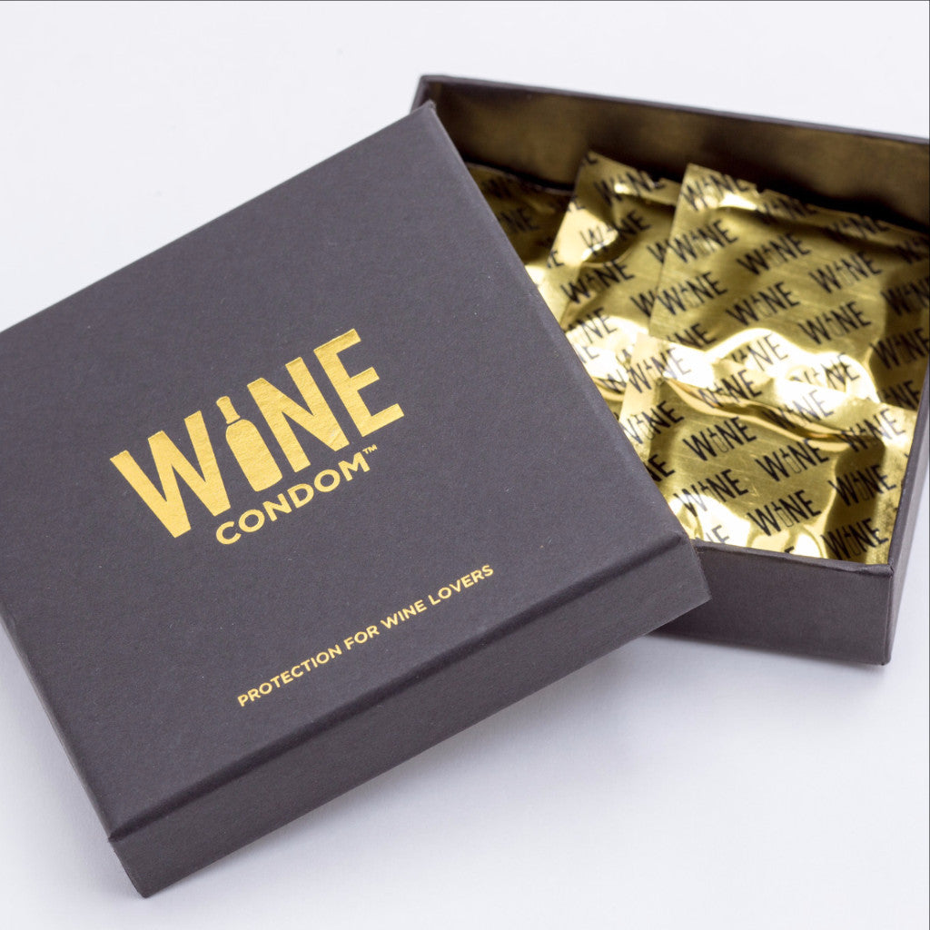 WINE CONDOMS ARE CURRENTLY IN STOCK ONLY ON AMAZON