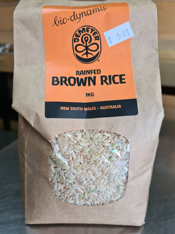 Organic rain fed Brown Rice (1kg)