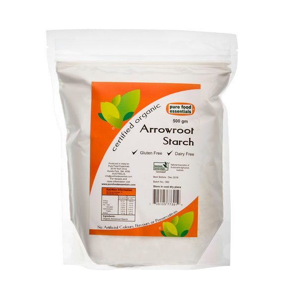 Organic Arrowroot Starch - Pure Food Essentials (500g)