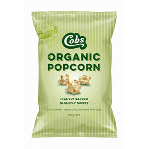 Cobs Organic Popcorn Lightly Salted Slightly Sweet (120g)